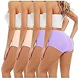 Eaylis 4PC Damen Unterwäsche mit hoher Taille Bauchkontrolle Höschen Unterwäsche Shapewear Kurze Höschen, Slips Spitze G-Strings Erotische Wäsche Dessous Reizunterwäsche Unterhosen Hipster