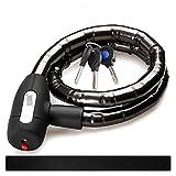 ZHANGWW ZWF Store Fahrradschloss Motorrad Fit für Rollerschlösser Kette Roller Diebstahl-Kabelkette mit Tasten Lock Bike Moped Zubehör Diebstahl