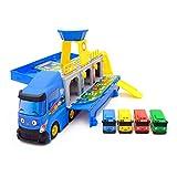fleeting time GaoHR Der kleine Bus große Container-LKW-Aufbewahrungsbox-Parkplatz mit 3 Ziehen Sie zurück Mini Tayo Auto Spielzeug Kinder Geburtstagsgeschenk