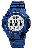 Herren Digitaluhr Militär Sport Outdoor Jungen Uhren mit 50M Wasserdicht Stoppuhr LED-Licht Wecker Chronograph Datum Armee Grün Tarnung Armbanduhr für Herren