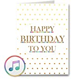 PlayMegram bespielbare Audio-Geburtstagskarte mit USB und 128 MB Speicher, Für Sprachnachrichten und Musik (MP3), Audiogrußkarte, Glückwunschkarte, Happy Birthday Grußkarte, Kreative Geschenk