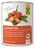 Raab Vitalfood Bio Hagebutten-Pulver, ohne Zusätze, vegan, mit natürlichem Vitamin C für eine normale Kollagenbildung und eine normale Knorpelfunktion, Hagebutte, 1er Pack (150 g Dose)