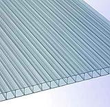 RK-Stegplatten, Polycarbonat, Stegplatten, Hohlkammerplatten, Gewächshausplatten, klar ca. 1500 x ca. 700 mm x 10 mm