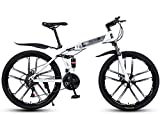 Klappbares Citybike 21-Gang Mountainbike Strand Schnee Fahrrad Erwachsene Herren Fahrrad Scheibenbremse 26 Zoll Enhanced Bike