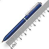 Online Miniatur Dreh-Kugelschreiber Blue mit Metallclip, D1-Standardmine | Mini-Kuli fürs Portemonnaie | 8 cm Länge, passend für Geldbeutel & kleine Taschen für unterwegs | Schreibfarbe schw