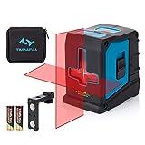 Kreuzlinienlaser Tilswall 20M Laser selbstnivellierend Linienlaser, Dual-Lasermodul mit 360° Drehbar Magnetische, IP54 Staub und Wasserschutz inkl. Schutztasche und 2 x AA B
