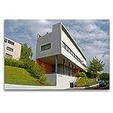 CALVENDO Premium Textil-Leinwand 120 x 80 cm Quer-Format Doppelhaus Architekten Le Corbusier u. Pierre Jeanneret, Leinwanddruck von Hanns-Peter Eisold
