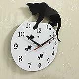 DOROCH Quarzuhr Wanduhr Acryl Spiegel Reloj verglich Horloge Nadel DIY Uhren Wohnzimmer Moderne Uhren 3D Aufkleber (Color : White)