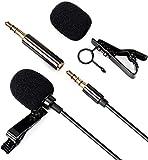 Lavalier Mikrofon mit Clip - Daffodil MCP100B - 3,5mm Aux Mini Freisprech-Ansteckmikrofon mit omnidirektionalem Kondensator - Mikrofon für Handy, PC, DSLR Kamera, Laptop mit 1,5m Kabel