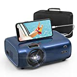 FUJSU Beamer, 6000 Lumen Mini Beamer Full HD,tragbare Heimkino Beamer 1080P mit 70000 Stunden LED Beamer unterstützt mit Laptop, iOS/Android Smartphone, USB, PS4, X-Box, Fire TV Stick