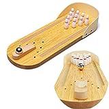 Mini-Bowling-Spiel-Set, aus Holz, Mini-Tischplatte, Bowling-Spiel, für Kinder, Lernspielzeug, für Kinder und Erwachsene, Familienpartys, Dekompression, Unterhaltungsspielzeug
