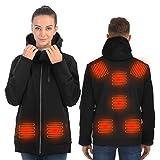 Anoopsyche Beheizbare Jacke Herren Damen Heizjacke USB Lade Beheizte Jacken Wasserdicht Winddicht mit 8 Heizzonen, 3 Temperatur Warm jacke für Outdoor Wandern Jagd Camping, ohne Akku