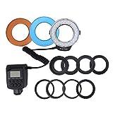 Akozon Ringblitzlicht Fülllicht, das Speziell für Den Einsatz Im Bereich Tragbarer LED-Ringblitzfilter Entwickelt Wurde. Adapter-Fotobatterie mit Farbzubehör