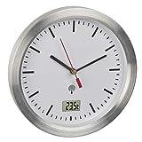 TFA Dostmann Badezimmeruhr mit Funk, 60.3539.02, mit Innentemperatur, feuchtigkeitsgeschützt, Befestigung ohne Bohren, weiß