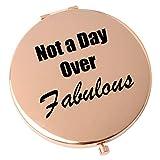 ShangTianFeng Faltbarer Taschen-Kosmetikspiegel aus Metall, kompakter Reise-Spiegel, Geburtstagsgeschenk, kein Tag über fabelhaft. Muttertagsgeschenke, für Frauen, Vergrößerungsspiegel, rotg