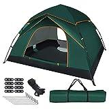 UOUNE Camping Zelt 2-3 Personen Kuppelzelt Wasserdicht Zelt Ultraleichte UV Schutz Wurfzelt für Familiengarten Camping Trekking