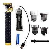 QKFON Haarschneidemaschine, professionelles Haarschneide-Set, zerbrochener Bartschneider, wiederaufladbares Pflegewerkzeug-Set, T-Blade Trimmer, Haarschneide-Set für Männer und Familie
