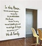 wandaufkleber schlafzimmer spruch In diesem Haus machen wir zweite Chancen, wir tun fum, wir machen Fehler, wir machen es wirklich,