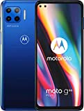 MOTOROLA moto g 5G plus (6,7'-Display, 48-MP-Kamera, 6/128 GB, 5000 mAh, Dual-SIM, Android 10) Blau, inkl. Schutzcover [Exklusiv bei Amazon]