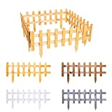 BooGardi Steckzaun aus imprägniertem Holz zum Abgrenzen Natur Braun 20 x 59,5 cm in verschiedenen Größen und Farben