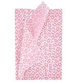 RUSPEPA Geschenkpapier Seidenpapier - Rosa und Weißer Leopardentwurf Seidenpapier für Heimarbeit Bastelarbeit Geschenkverpackung – 50 x 70 cm – 25 Blatt