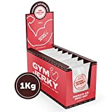Gym Jerky Beef Chili 1kg - 25x40g High Protein - Low Fat & Low Carb - Deutsches Premium-Rindfleisch Made in Germany