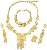CAISHENY Äthiopische afrikanische Dubai Gold Farbe Brautschmuck Set 24 Karat Gold Mittlerer Ostern Indien Kenia Schmuck