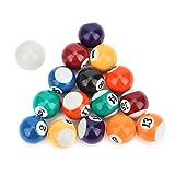 Wosune Das kleinste Spielzeug der Welt, Billardtisch-Zubehör, Multi-Spieltisch, Pool-Spiele, Tischspiele für Pool-Spielkinder