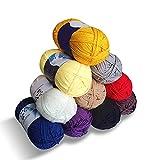 Maxee 500g (50g*10 Farbe) Wolle, Acrylgarn, Garn Stricken, Garn zum Häkeln und Stricken, Hand Knitting Yarns, Benutzt für Häkeln und Kunsthandwer