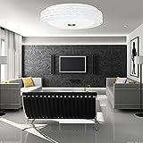 Caiqinlen LED WiFi Deckenleuchte, Tageslicht Mehrfarben 60W 15.8In Smart LED Deckenleuchte Vioce Control für Treppenhaus Küche Home Decor Badezimmer Flur(Milky White Border)