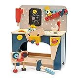 Tender Leaf Toys Tisch-Werkzeugbank zum Bauen und Gestalten – Entwickeln Sie Ihre Sinne ab 3 Jahren.