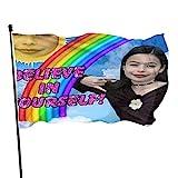 YeeATZ Miran-Da Cosgro-Ve Rainbow Flag 3x5 Ft Fahnen Flagge Flag Banner Polyester Material Gartenbalkon Gartendekoration Im Freien 90x150cm xwxb