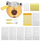 Les-Theresa DIY Schokoladen-Schmelztopf-Maschinen-Set elektrische Küchengeräte für Home Restaurant(European plug110V)
