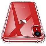 CANSHN iPhone XR Hülle, Hochwertig Transparent Weiche Durchsichtig Dünn Handyhülle mit TPU Stoßfest Fallschutz Bumper Case Cover für Apple iPhone XR 6.1''