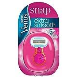 Gillette Venus Extra Smooth Snap Rasierer Damen mit Feuchtigkeitsstreifen für Hautschutz, Damenrasierer + 1 Rasierklinge