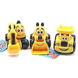 Fanny Cartoon Cars - Truck Bagger und Radlader 3er-Set Baustellenfahrzeuge 10