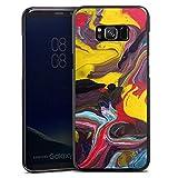 DeinDesign Hard Case kompatibel mit Samsung Galaxy S8 Plus Duos Schutzhülle schwarz Smartphone Backcover Farbverlauf Kunst Malerei