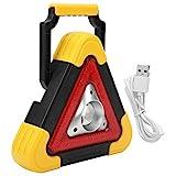 YIUS ABS Kunststoff Auto Warndreieck Lampe Notwarnlampe Licht Sicherheit Blinkzeichen 2000 mAh