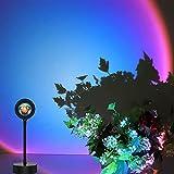 Sunset Lamp, Sunset Projection Lamp 360° Drehung USB LED Rainbow Lamp Romantische Visuelle Stimmungslampe Beleuchtung Schlafzimmer Deko (Rainbow)
