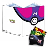 Lively Moments Pokemon Ultra-Pro Album A4 mit 90 Fächer in Meisterball Optik und Exklusive GRATIS Grußkarte