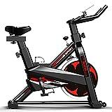 Olz Heimtrainer, stationäres Indoor-Fitnessrad Radfahren mit Telefonhalter/LCD-Display/Herzfrequenzmesser, lautlos, Lenker und Sitz verstellbar, Fitnessrad 180 kg erhältlich, schwarz