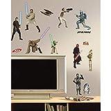 RoomMates RMK1876SCS - Star Wars I-III Wandtattoo, PVC, bunt, 13 x 2,5 x 27