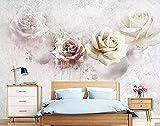 Vintage Rose Splash Aquarell Stil Tapete Tapete wandpapier fototapete 3d effekt tapeten Wohnzimmer Schlafzimmer kinderzimmer-400cm×280cm