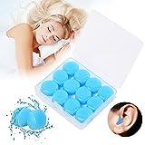 2021 Neue Ohrstöpsel, zur Unterdrückung von Schlafgeräuschen, 6 Paar weiche wiederverwendbare, formbare Silikon-Ohrstöpsel, ideal zum Schwimmen, Reisen, für Konzerte, Arbeiten, Studieren (Blau)
