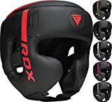 RDX Kopfschutz Boxen für Kickboxen, Kampfsport, MMA Training, Maya Hide Leder Kara Sparring Thaiboxen Kopfschützer, Boxhelm Krav MAGA Muay Thai, Karate und Taekwondo Headgear (MEHRWEG)