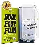 Ringke Dual Easy Film [2-Pack] Kompatibel mit [OnePlus 7 Pro] [OnePlus 7T Pro] Hochauflösender [Anti-Smudge-Beschichtung] Einfache Anwendung S