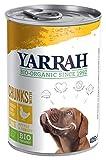 YARRAH Bio Hundefutter Bröckchen Huhn, Brennessel, Tomate 405 g, 12er Pack (12 x 405 g)