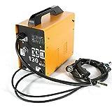 230V MIG-130 Ampere Schweißgerät Fülldraht-Schweißgerät, Schutzgas Schweißgerät Fülldrahtschweißgerät für 0,9 mm Fülldraht (Gelb)