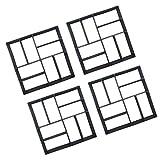 MagiDeal 4x Schrittmacher Konkrete Trittsteinform Gartenwegform 40cm 8 R