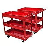 Werkzeugwagen Werkstattwagen mit 3 Ebenen mit Rädern für Werkstatt, Garage, Lager, maximale Belastung von 100 kg